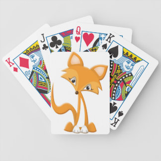 Cute Cartoon Fox Bicycle Playing Cards