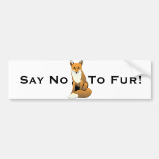 Cute Cartoon Fox Sitting On Ground Bumper Sticker