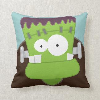 Cute Cartoon Frankenstein Monster Throw Pillow