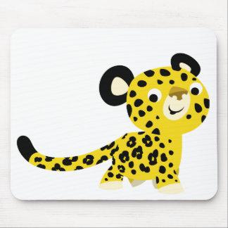 Cute Cartoon Friendly Leopard Mousepad