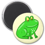 Cute Cartoon Frog 6 Cm Round Magnet