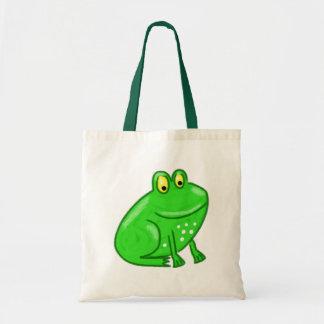 Cute Cartoon Frog Budget Tote Bag