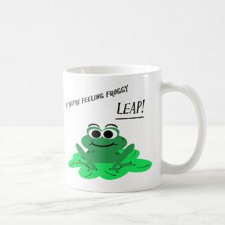 Cute Cartoon Frog Coffee Mug