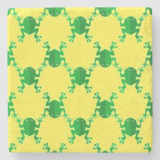 Cute Cartoon Frogs Stone Coaster