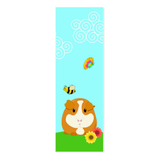 Cute Cartoon Ginger Brown Guinea Pig Bookmark Pack Of Skinny Business Cards