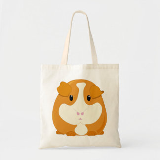 Cute Cartoon Ginger Brown Guinea Pig Tote Bag