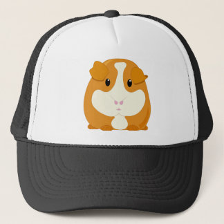 Cute Cartoon Ginger Brown Guinea Pig Trucker Hat