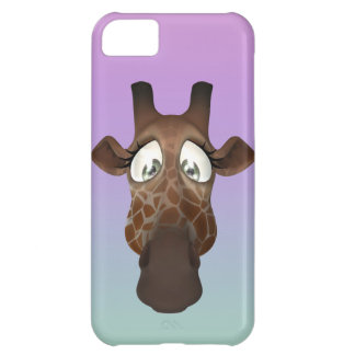Cute Cartoon Giraffe Face iPhone 5C Case