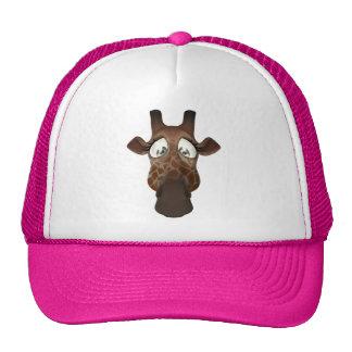 Cute Cartoon Giraffe Pink Hat