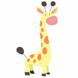 Cute Cartoon Giraffe Standing Photo Sculpture