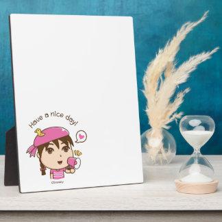 Cute cartoon girl plaque