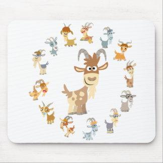 Cute Cartoon Goat Mandala Mousepad