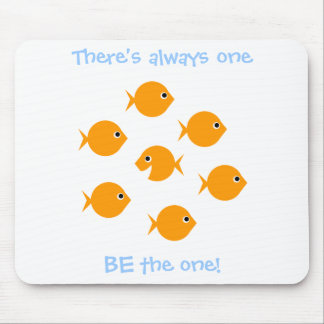 Cute  Cartoon Goldfish Inspiring Saying For Kids Mouse Mat