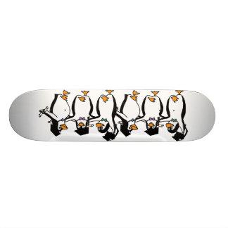 Cute Cartoon Graduating Penguins 19.7 Cm Skateboard Deck