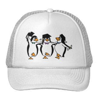 Cute Cartoon Graduating Penguins Trucker Hat