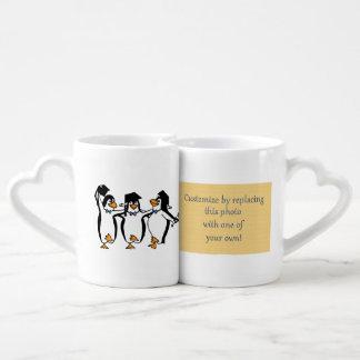 Cute Cartoon Graduating Penguins Lovers Mug