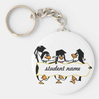 Cute Cartoon Graduating Penguins w/Banner