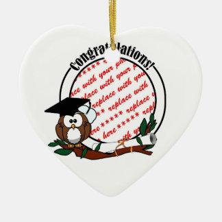 Cute Cartoon Graduation Owl With Cap Diploma Christmas Tree Ornaments