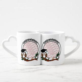 Cute Cartoon Graduation Owl With Cap & Diploma Lovers Mug
