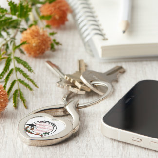 Cute Cartoon Graduation Owl With Cap & Diploma Silver-Colored Twisted Heart Key Ring