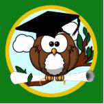 Cute Cartoon Graduation Owl With Cap & Diploma Photo Cutout