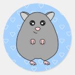 Cute Cartoon Grey Hamster Stickers