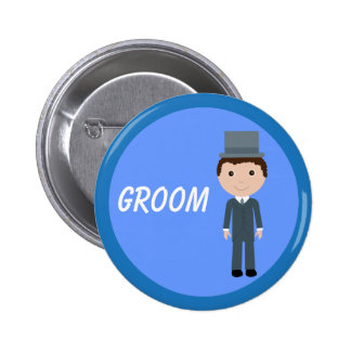 Cute Cartoon Groom Buttons