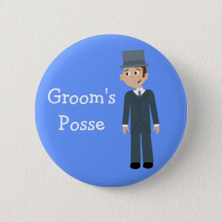 Cute Cartoon Groom's Posse Bachelor Party 6 Cm Round Badge