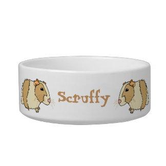 Cute Cartoon Guinea Pigs Personalized Pet Bowl Cat Bowl