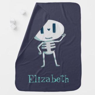 Cute Cartoon Halloween Skeleton Waving Hello Buggy Blankets