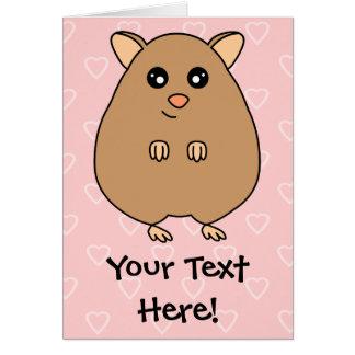 Cute Cartoon Hamster Greeting Card