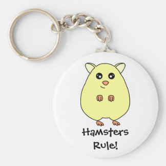 Cute Cartoon Hamster - Hamsters Rule Keychain