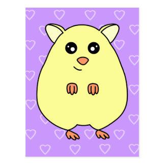 Cute Cartoon Hamster Postcard