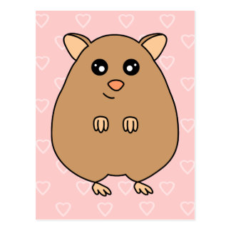 Cute Cartoon Hamster Postcard