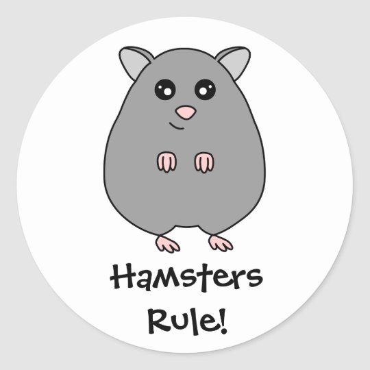 Cute Cartoon Hamster Rule Stickers