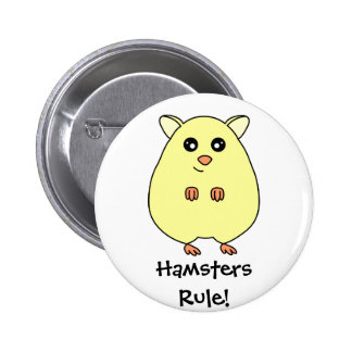 Cute Cartoon Hamsters Rule Button