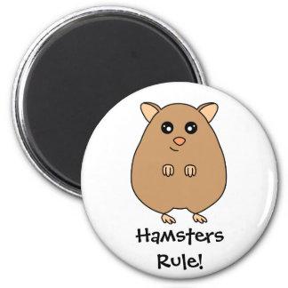 Cute Cartoon Hamsters Rule Magnet