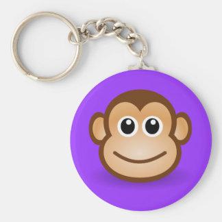 Cute Cartoon Happy Monkey Face Key Ring