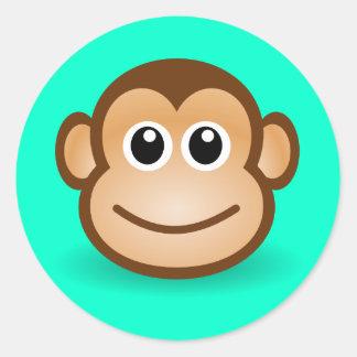 Cute Cartoon Happy Monkey Face Stickers