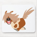 Cute Cartoon Happy Pinto Pony mousepad
