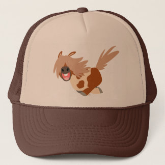 Cute Cartoon Happy Pinto Pony Trucker Hat