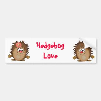 Cute Cartoon Hedgehog Bumper Sticker