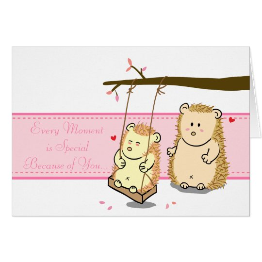 Cute Cartoon Hedgehog couple in love at tree