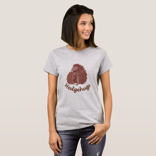 "Cute cartoon hedgehog ""hedgehug"" T-Shirt"