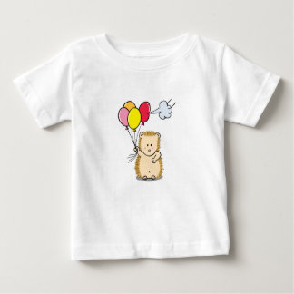 Cute Cartoon Hedgehog holding colorful balloons Baby T-Shirt