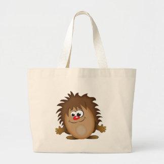 Cute Cartoon Hedgehog Large Tote Bag