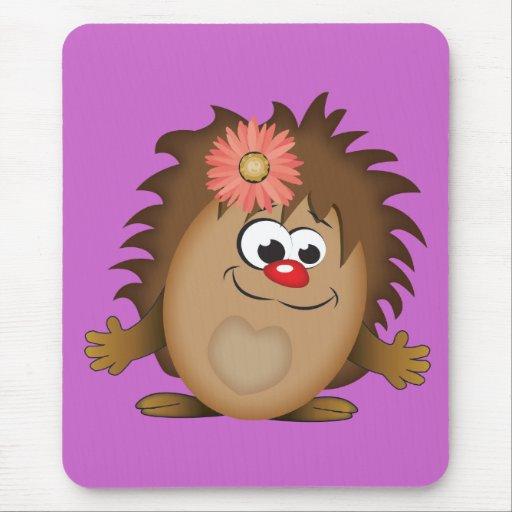 Cute Cartoon Hedgehog Mouse Pads
