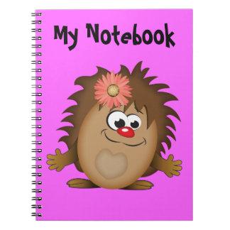Cute Cartoon Hedgehog Notebook
