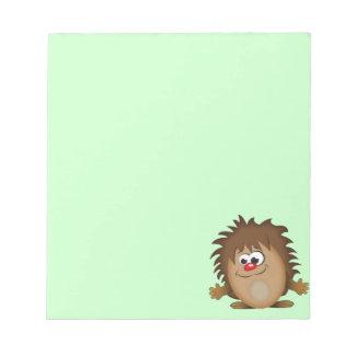 Cute Cartoon Hedgehog Notepad