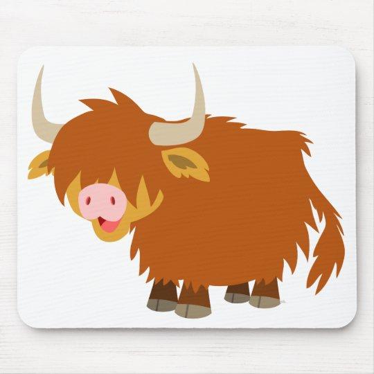 Cute Cartoon Highland Cow Mousepad Zazzle Co Uk
